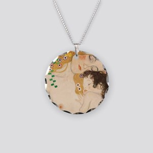 MotherandChild Necklace Circle Charm