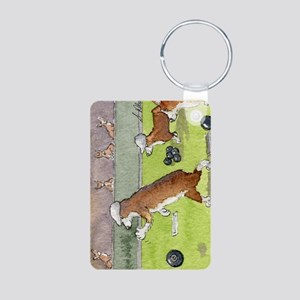 Bowls on the green Aluminum Photo Keychain