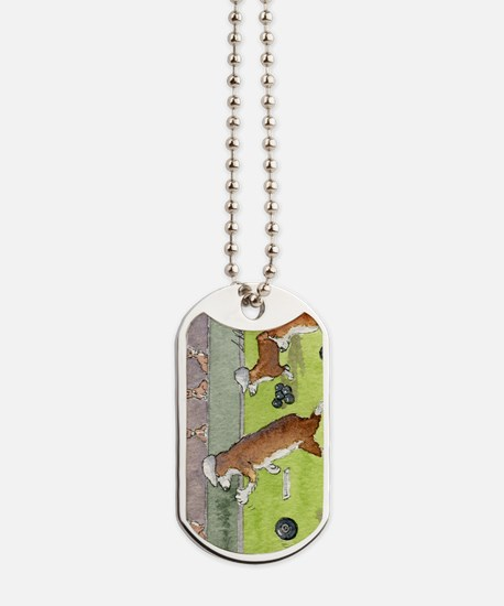 Bowls on the green Dog Tags