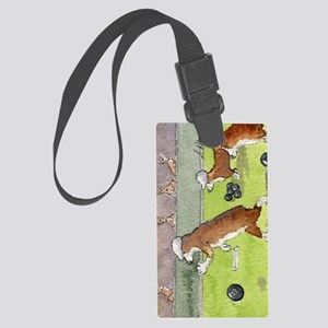 Bowls on the green Large Luggage Tag