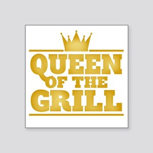 """Queen of the Grill Square Sticker 3"""" x 3"""""""