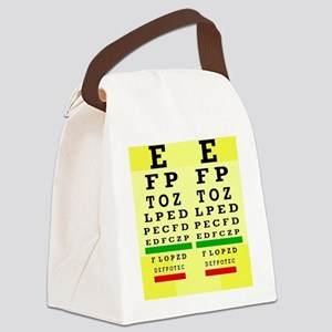 Eye Chart FF 5 Canvas Lunch Bag