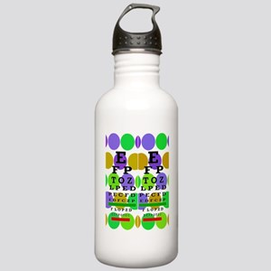 Eye Chart FF 9 Stainless Water Bottle 1.0L