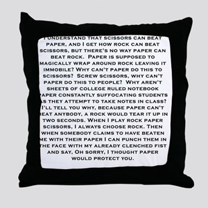 Rock Paper scissors Throw Pillow