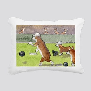 Bowls on the green Rectangular Canvas Pillow
