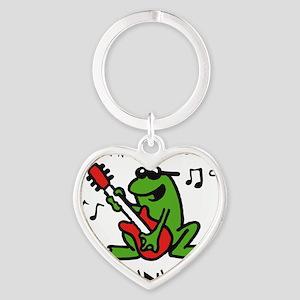frog n roll 07-2011 F 3c Heart Keychain
