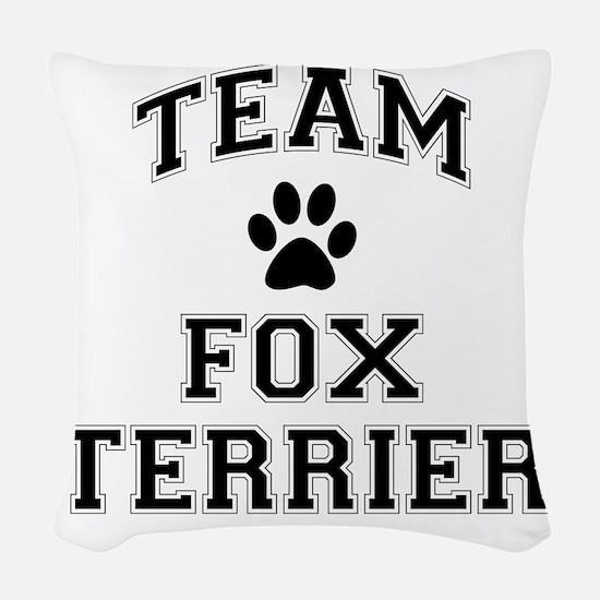 Team Fox Terrier Woven Throw Pillow