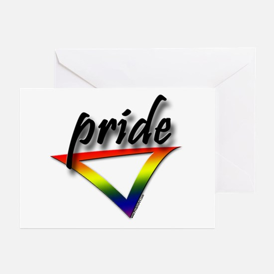 Gay Pride Triangle Greeting Cards (Pk of 10)