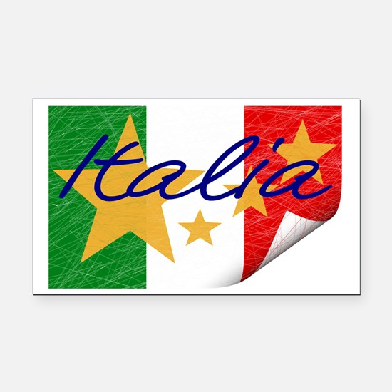Italy Flag Rectangle Car Magnet