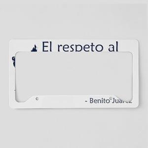 El respeto License Plate Holder