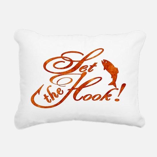 Set the Hook Rust Rectangular Canvas Pillow