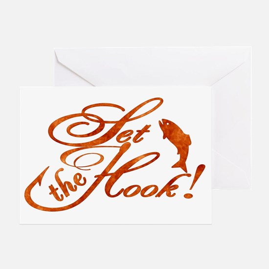 Set the Hook Rust Greeting Card