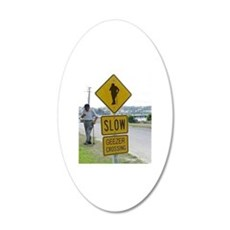 SLOW  GEEZER CROSSING Wall Decal