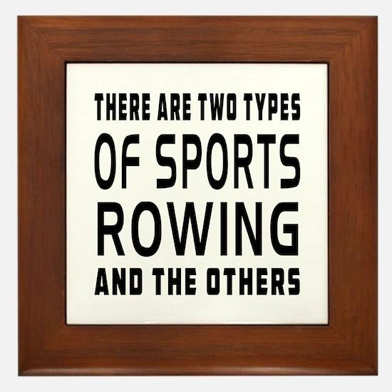 Rowing Designs Framed Tile