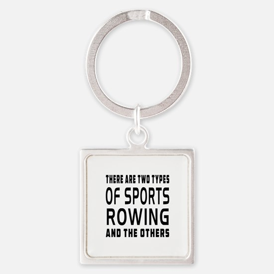 Rowing Designs Square Keychain