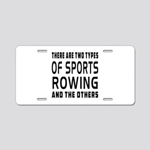 Rowing Designs Aluminum License Plate