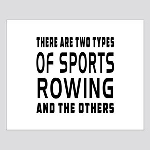 Rowing Designs Small Poster