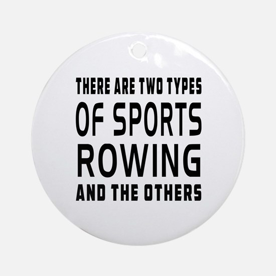 Rowing Designs Ornament (Round)