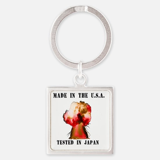 Made in the USA Square Keychain