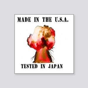 """Made in the USA Square Sticker 3"""" x 3"""""""
