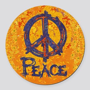 Gustav Klimt Peace Round Car Magnet