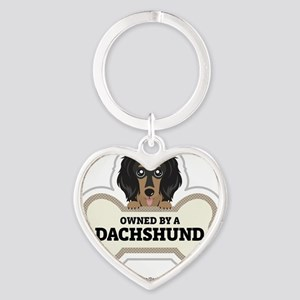 Owned by a Dachshund Heart Keychain