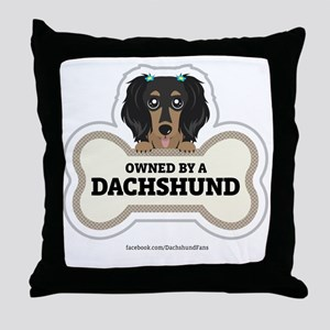 Owned by a Dachshund Throw Pillow