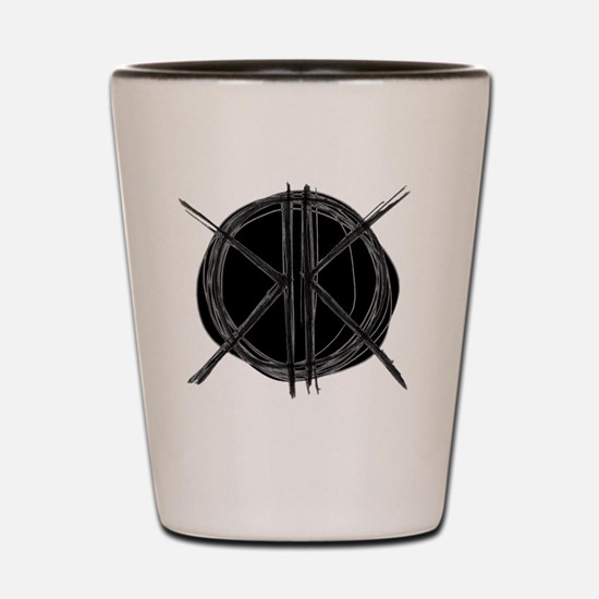 Dark Initials Shot Glass