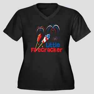 4th of July  Women's Plus Size Dark V-Neck T-Shirt