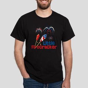 4th of July Little Firecracker Dark T-Shirt