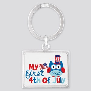 Owl My First 4th of July Landscape Keychain