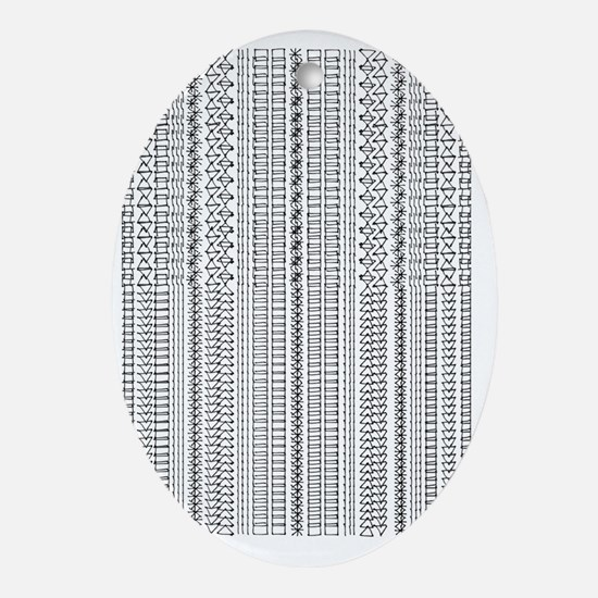 Graphic Pattern Oval Ornament