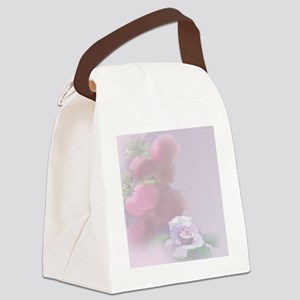 Pomegranate Rose Canvas Lunch Bag