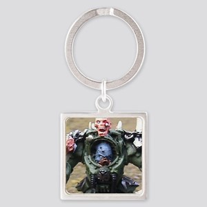 Zombie Lord Square Keychain