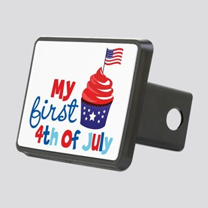 Cupcake First 4th of July Rectangular Hitch Cover