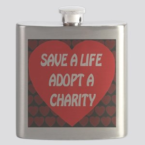 Save A Life Adopt A Charity Flask