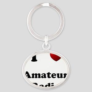 Amateur Radio Oval Keychain