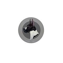 Classic Mantel Great Dane Mini Button (100 pack)