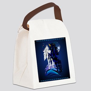 Shower Curtain Two Unicorn Stalli Canvas Lunch Bag
