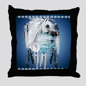 Leopard Appy and Dreamcatcher Throw Pillow