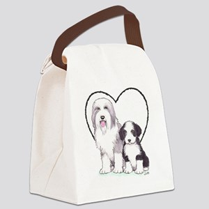 Bearded Collies Canvas Lunch Bag