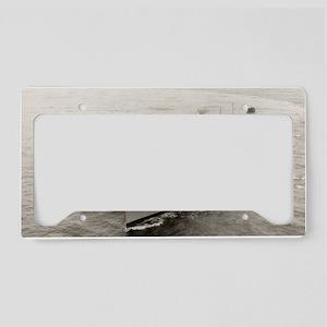 uss hassayampa large framed p License Plate Holder