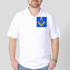 masonic trailer hitch cover Golf Shirt