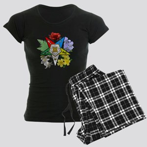 OES Floral Emblem Women's Dark Pajamas