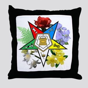 OES Floral Emblem Throw Pillow