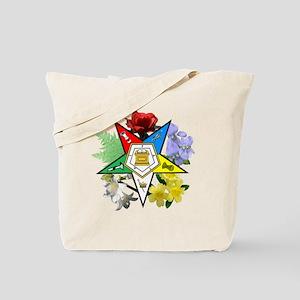 OES Floral Emblem Tote Bag