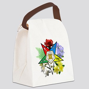 OES Floral Emblem Canvas Lunch Bag