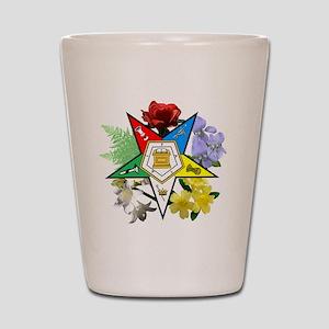 OES Floral Emblem Shot Glass