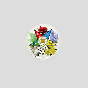 OES Floral Emblem Mini Button