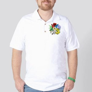OES Floral Emblem Golf Shirt